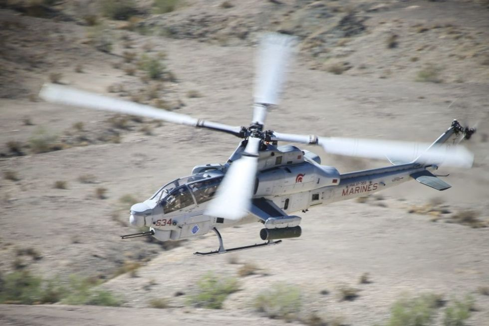 Fly Along in a Marine Corps Attack Helicopter