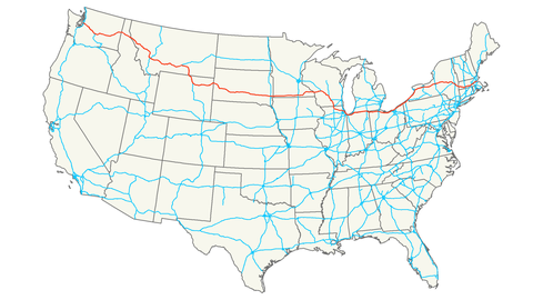 7 of the Longest U.S. Interstates