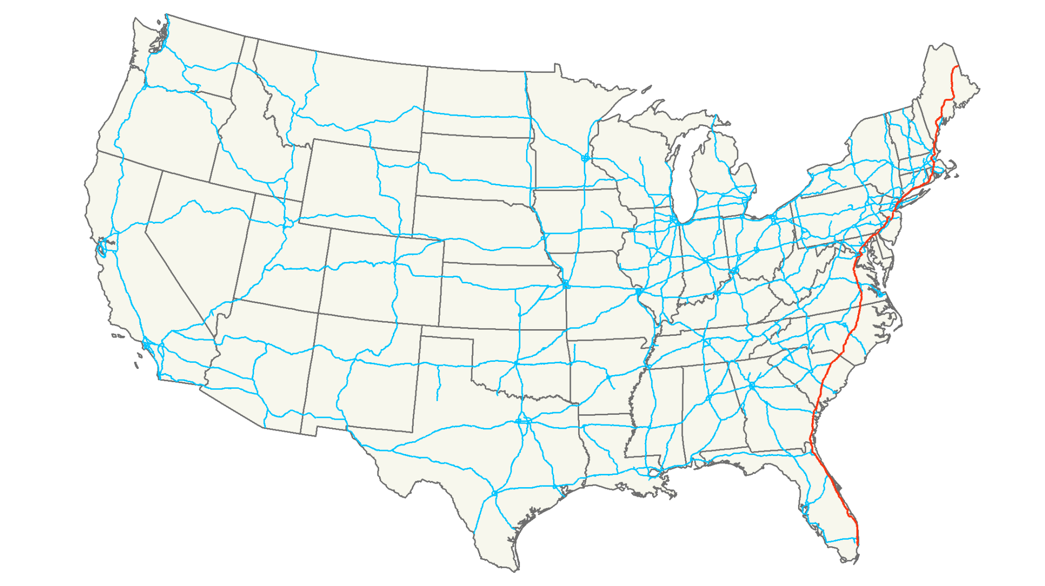 7 of the Longest US Interstates