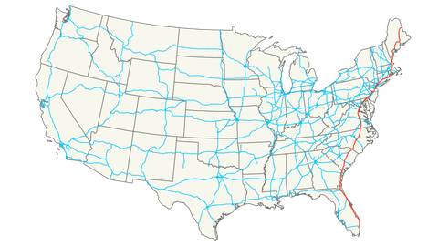 7 of the Longest U.S. Interstates