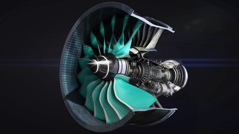 Rolls-Royce power gearbox (PGB).