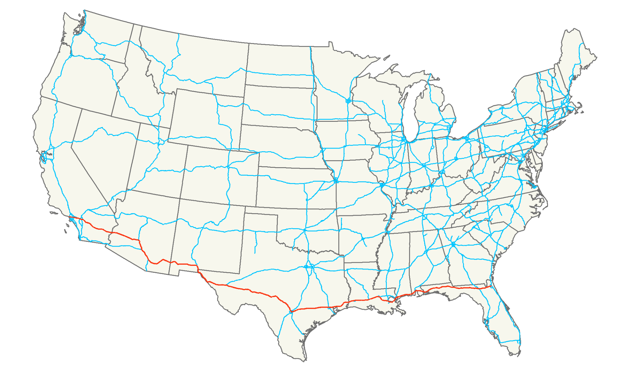 7 of the Longest US Interstates