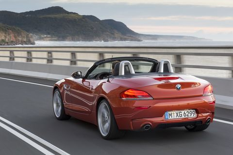 """<p>BMW first modern roadster was the Z3. In 2002, when the second-gen version was born, its model number ticked up one, to Z4. That redesign also saw the two-seater slapped with the heavy hand of BMW's """"flame surfacing"""" styling treatment. A third-gen model that arrived for 2009 toned down the wild sheetmetal creases and stretched out the proportions to create a much prettier sports car, but the switch to a retractable hardtop added weight. A six-cylinder version of that 2009 model&nbsp&#x3B;<a href=""""http://www.caranddriver.com/comparisons/second-place-page-4"""" target=""""_blank"""">came in second</a>&nbsp&#x3B;behind the Porsche Boxster in a <em data-verified=""""redactor"""" data-redactor-tag=""""em"""">Car and Driver</em> comparison test that also included the Audi TT roadster and the Chevy Corvette convertible. In recent years, two six-cylinder versions were offered (topping out at 335 horsepower), along with a turbo-four base model. But the market for roadsters is a tough one, and volumes are small. Which is why the model's Z5 successor will come via joint effort, with Toyota.&nbsp&#x3B;<em data-redactor-tag=""""em"""">—Joe Lorio</em></p>"""