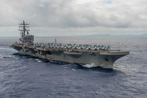 Naval ship, Water, Boat, Watercraft, Horizon, Navy, Ocean, Warship, Ship, Naval architecture,