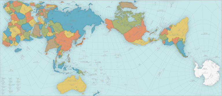 This world map is so accurate it folds into a globe authagraph gumiabroncs Gallery