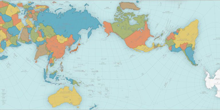 This World Map Is So Accurate It Folds Into A Globe - Map of globe