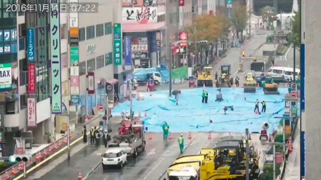 Japan Filled a Sprawling Sinkhole in One Week and Here's How