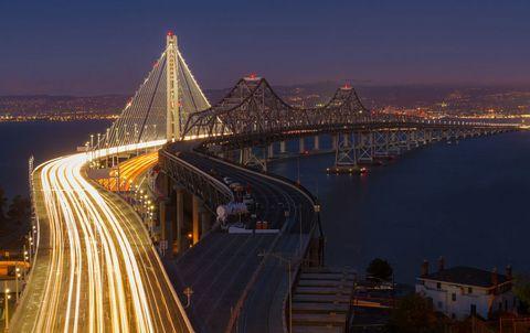 Night, Bridge, Road, Infrastructure, Metropolitan area, Urban area, City, Fixed link, Metropolis, Cable-stayed bridge,