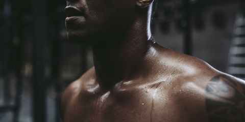 Lip, Skin, Chin, Shoulder, Joint, Chest, Barechested, Jaw, Muscle, Trunk,