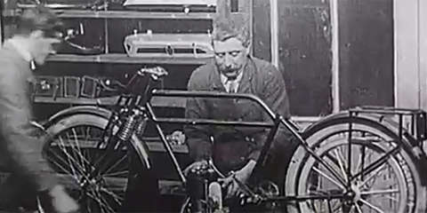 Silent Film Shows How Motorcycles Were Built Before the Assembly Line