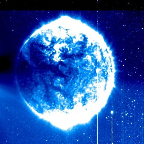 Weird Blue Sphere in Space