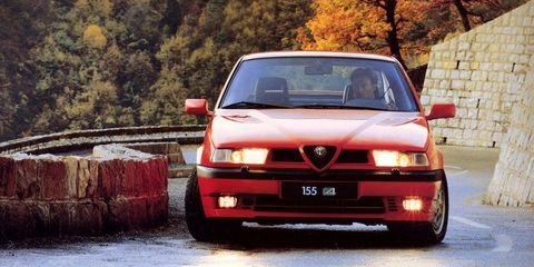 "<p>Yes, Alfa will bring <a href=""http://www.roadandtrack.com/new-cars/first-drives/a31432/alfa-romeo-giulia-quadrifoglio-first-drive/"" target=""_blank"" data-tracking-id=""recirc-text-link"">the rear-drive Giulia sedan</a> to the states soon, but what if you want something slightly more boxy? The 155 should do the ticket, especially in Q4 form, which shared a drivetrain with <a href=""http://www.roadandtrack.com/car-culture/classic-cars/videos/a30412/lancia-delta-integrale-evo-ii-petrolicious/"" target=""_blank"" data-tracking-id=""recirc-text-link"">the legendary Lancia Delta Integrale</a>.</p>"