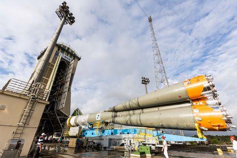 Soyuz rocket parts