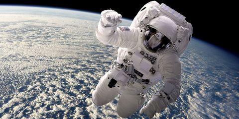 Astronaut, Atmosphere, Space, Personal protective equipment, Outer space, Astronomical object, Aerospace engineering, Glove, Extreme sport,
