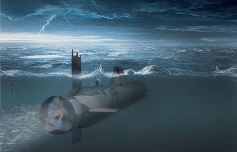Ocean, Wave, Submersible, Storm, Water transportation, Lightning, Castle, Spacecraft, 3d modeling, Cylinder,