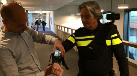 Dutch Police Officer With Augmented Reality