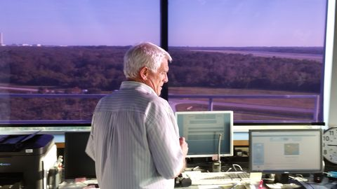 <p><span>For more than three decades, Kenneth Hooks has seen Cape Canaveral from his perch inside the nation's most unusual air traffic control tower. The tower controls access to the Shuttle Landing Facility, a 15,000-foot long runway that hosted shuttle touchdowns until the program ended in 2011.</span></p> <p>This runway is a symbol of where spaceflight has been. Now it's becoming&nbsp;<span>a key hub of the future. Since 2015 the runway, tower, and other pieces have been operated by Space Florida, the state's spaceport development authority seeking to boost commercial business ventures. And this place is a key part of the return of&nbsp;human spaceflight, too.</span></p>