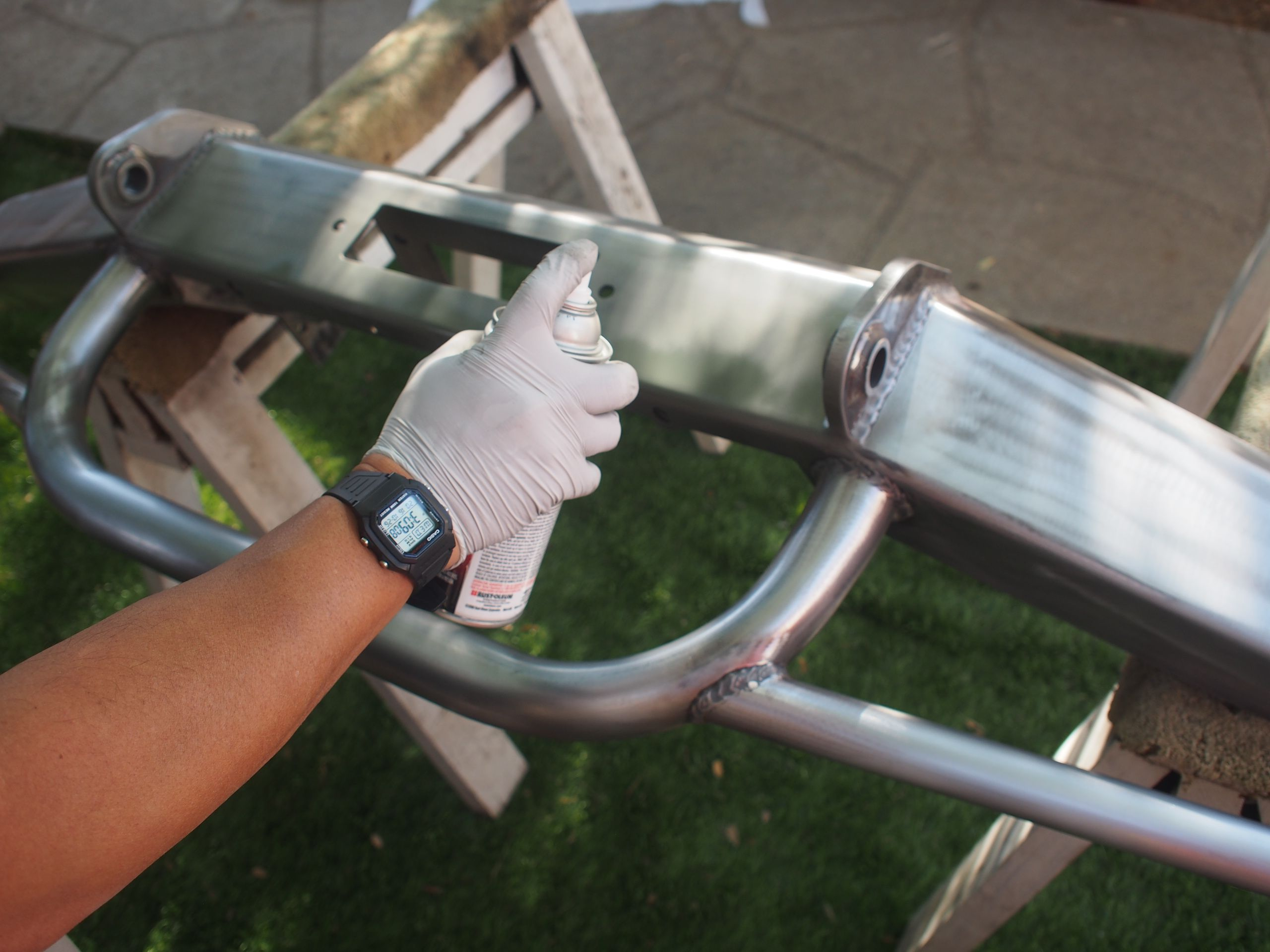 How To Paint Metal Painting Pers Roll Bars And Cages
