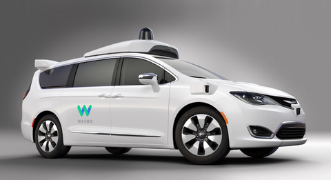 The first images of the Waymo-Chrysler minivan.