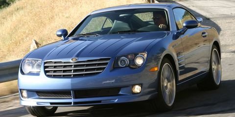 "<p><a href=""http://www.roadandtrack.com/new-cars/reviews/a9675/2004-chrysler-crossfire-1/"" target=""_blank"" data-tracking-id=""recirc-text-link"">The Chrysler Crossfire</a>, while mildly different from its Mercedes-Benz SLK underpinnings, still shares drivetrains and a platform with the German roadster. But unlike its European sibling, this car could be had with a fixed roof hardtop.&nbsp;</p>"