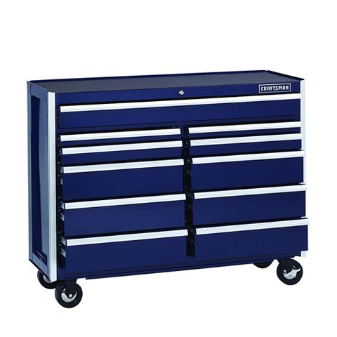 craftsman 52 inch rolling tool box blue