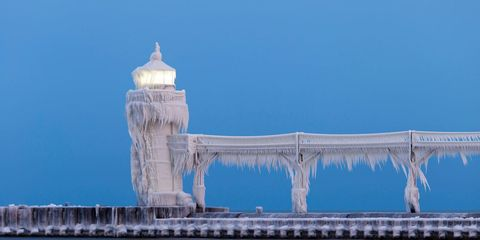 Check Out This Michigan Lighthouse Encased in Ice