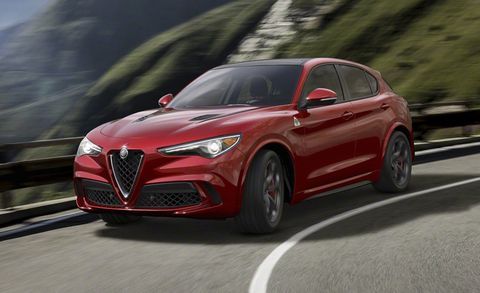 """<p>Crossovers are some of the least exciting vehicles on the planet, but <a href=""""http://www.roadandtrack.com/car-shows/los-angeles-auto-show/news/a31585/alfa-romeo-stelvio-revealed/"""" target=""""_blank"""" data-tracking-id=""""recirc-text-link"""">the Alfa Romeo Stelvio</a> has our attention. In QV form, it gets a 505-horsepower V6 and is capable of hitting 60 mph in a claimed 3.9 seconds. CUV or not, that sounds like a blast.&nbsp;</p>"""