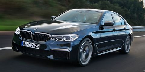 """<p>The current M550i (pictured above) is already <a href=""""http://www.roadandtrack.com/new-cars/future-cars/news/a31150/bmw-m550i-xdrive-acceleration/"""" target=""""_blank"""" data-tracking-id=""""recirc-text-link"""">quicker to 60 mph than the current M5</a>, clocking in at four seconds flat. The new, (probably)&nbsp;all-wheel-drive BMW M5 should be even quicker than that. Plus, we've heard it'll still have <a href=""""http://www.roadandtrack.com/new-cars/future-cars/news/a31913/the-next-bmw-m5-will-reportedly-have-a-button-to-engage-rear-wheel-drive/"""" target=""""_blank"""" data-tracking-id=""""recirc-text-link"""">a rear-wheel-drive mode</a>&nbsp;for burnouts and power slides. Should <a href=""""http://www.roadandtrack.com/new-cars/first-drives/a31840/first-drive-mercedes-amg-e63s/"""" target=""""_blank"""" data-tracking-id=""""recirc-text-link"""">the Mercedes-AMG E63 S</a> be worried?</p>"""