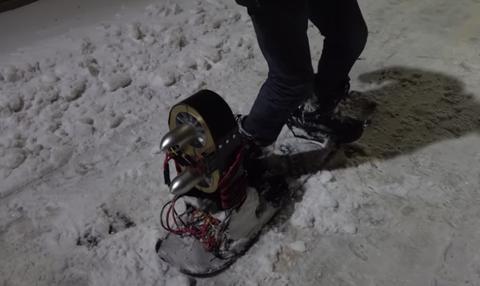 jet powered snowboard