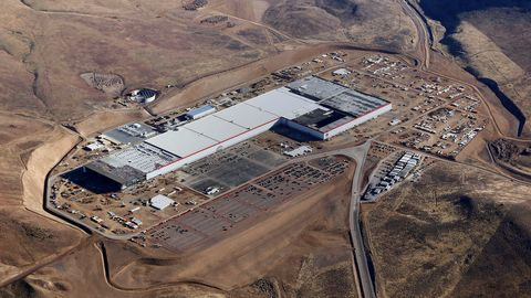 "<p>While Tesla already boasts a 5.5 million square foot production facility in Fremont, California, for vehicle production, a brand-new Gigafactory outside of Sparks, Nevada, began battery cell production on January 4, 2017. By 2018, the factory will reach a size of 13 million square feet. In cooperation with Panasonic, the Gigafactory plans to achieve net zero energy as it continues to automize the battery-making process.<span class=""redactor-invisible-space""></span></p>"