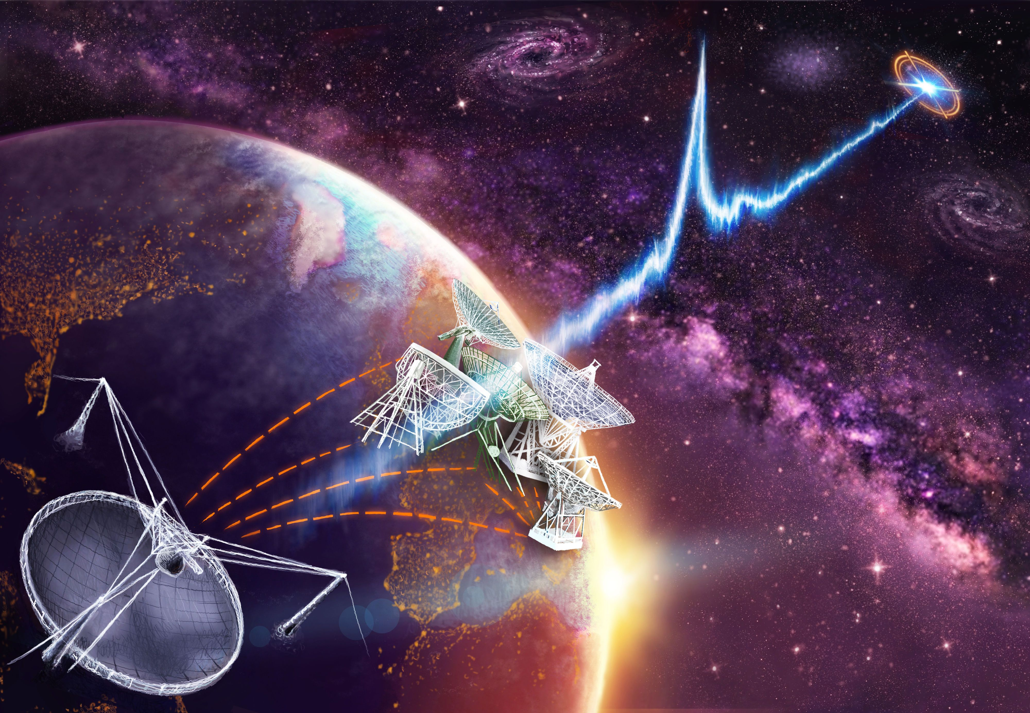 "Mysterious ""Fast Radio Burst"" Pinpointed for First Time in the Deep Cosmos"