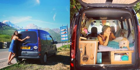 This Woman Converted an Old Van So She Could Travel With Her Dog