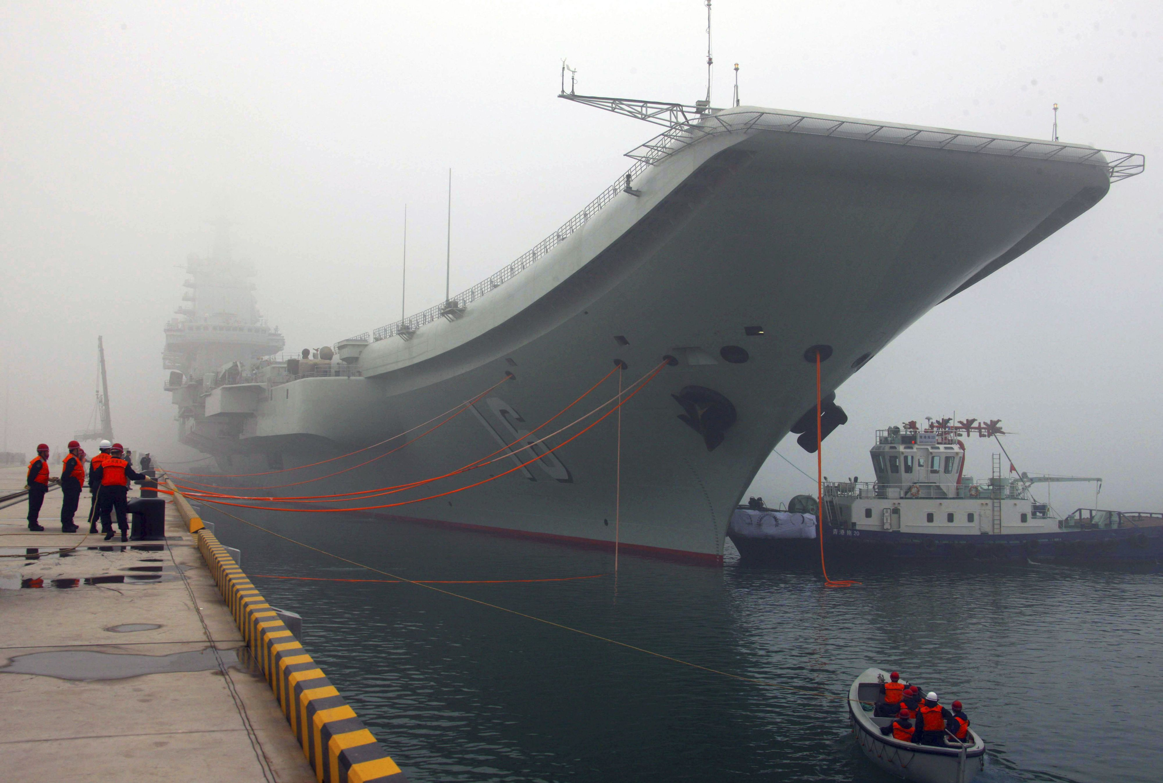 China Shows Off Its New Aircraft Carrier