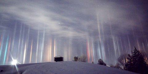 Mysterious Light Pillars Captured in Stunning Photos