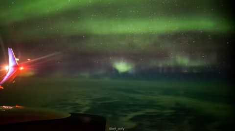 The Northern Lights Are Even More Beautiful From an Airplane