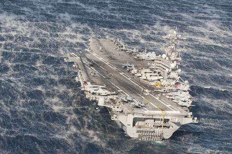 Supercarrier, Warship, Vehicle, Ship, Aircraft carrier, Naval ship, Light aircraft carrier, Amphibious assault ship, Escort carrier, Watercraft,