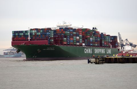Transport, Container ship, Waterway, Fluid, Liquid, Feeder ship, Panamax, Watercraft, Shipping container, Boat,