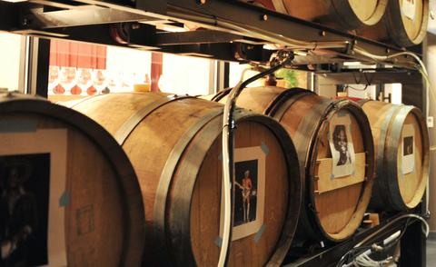 Winery, Barrel, Iron, Gas, Wine cellar, Circle, Cylinder, Brewery, Rust, Steel,
