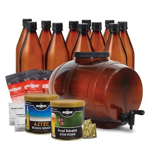 Mr. Beer Premium Gold Edition Homebrewing Craft Beer Making Kit