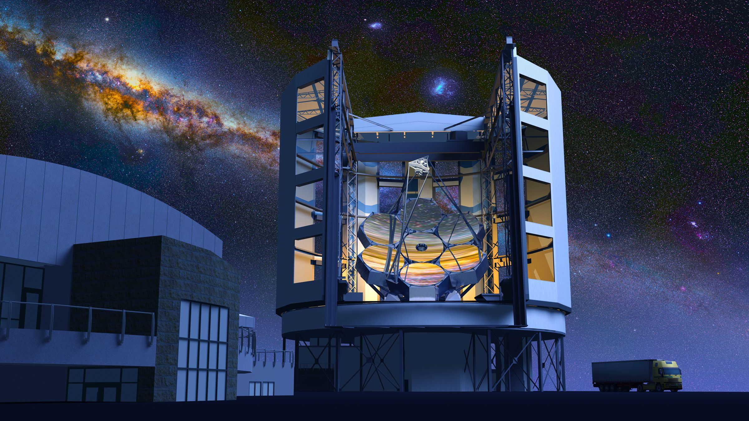 a look at the telescopes of the future and what we will see