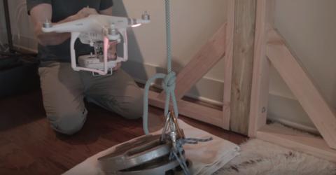 drone versus rope