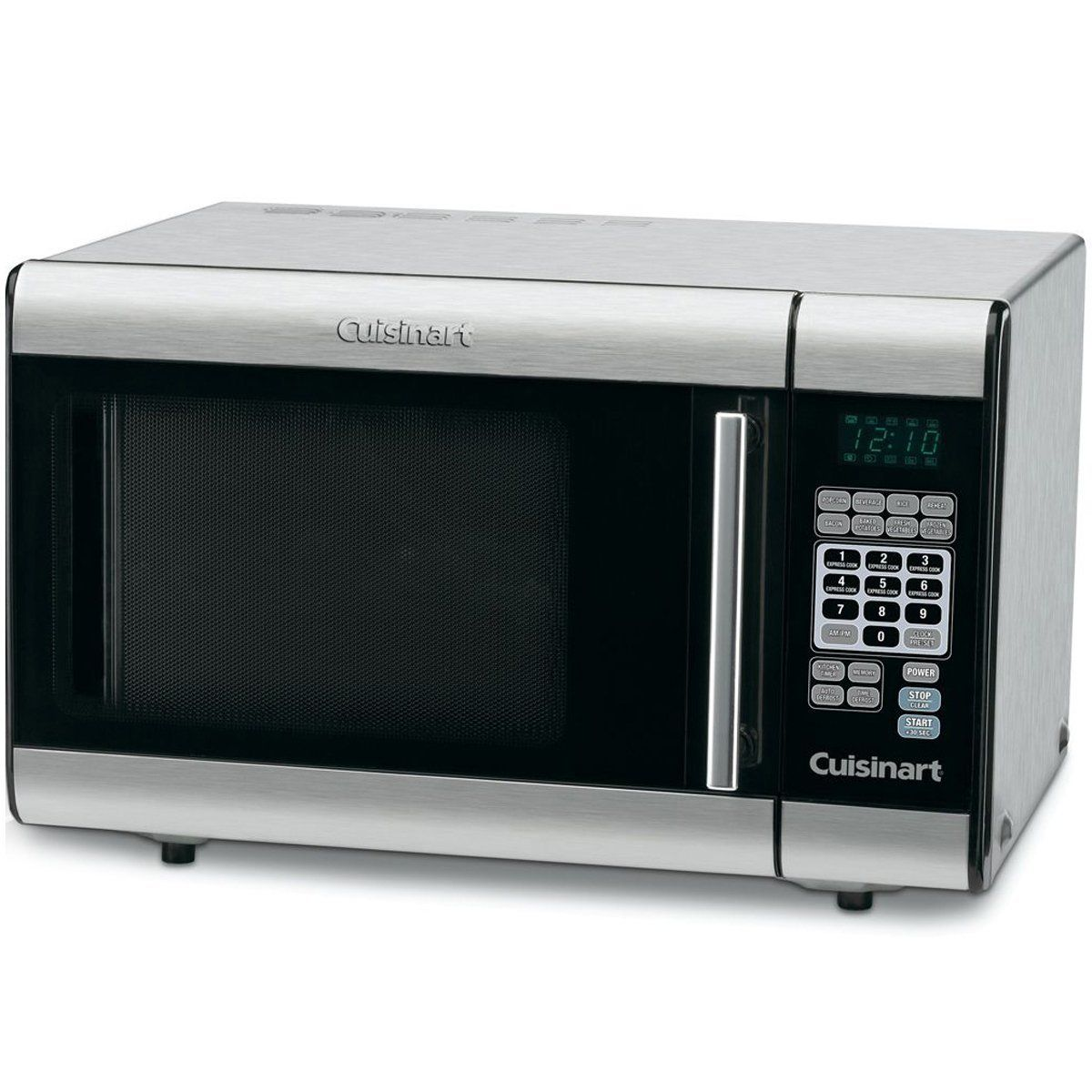 "<p><strong data-redactor-tag=""strong""><i data-redactor-tag=""i""> $122</i></strong> <a href=""https://www.amazon.com/Cuisinart-CMW-100-1-Cubic-Foot-Stainless-Microwave/dp/B000IW9J20?tag=bp_links-20"" data-tracking-id=""recirc-text-link"" target=""_blank"" class=""slide-buy--button"">BUY NOW</a></p><p>You can always count on Cuisinart for quality kitchen appliances. This microwave is no exception, boasting eight preset options with different serving size options for frequently heated foods. </p><p>It has a timer, two defrost functions, and ten customizable power levels for serious versatility. You'll also find a two-stage cooking option, that, for example, would allow you to defrost for a certain amount of time and then automatically switch to regular heating for however long you want. This works for power levels as well, which you can set for certain amounts of time before increasing or decreasing. Plus, you can set custom cook times using the memory function, kind of like pre-setting radio stations in your car! </p>"