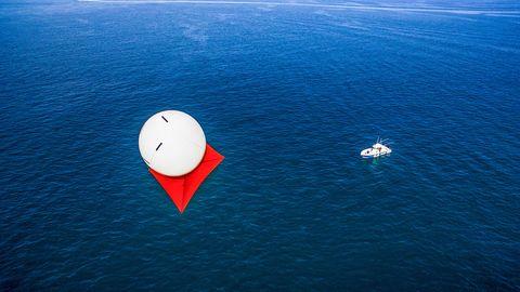 Azure, Water, Ocean, Sea, Calm, Vehicle, Illustration, Horizon, Naval architecture,