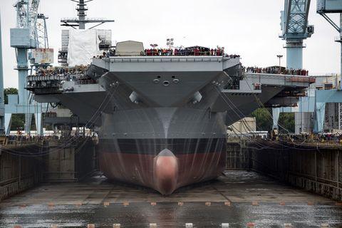 Ship, Vehicle, Naval architecture, Watercraft, Boat, Naval ship, Aircraft carrier, Warship, Amphibious assault ship, Dock landing ship,
