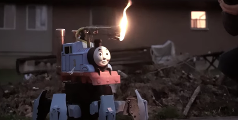 flamethrower thomas tank engine