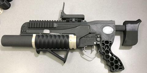 Gun, Product, Firearm, White, Trigger, Line, Gun accessory, Black, Air gun, Grey,