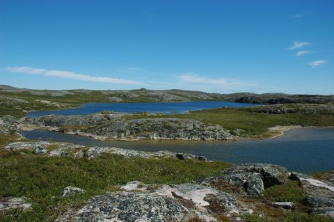 Body of water, Wilderness, Highland, Natural landscape, Natural environment, Water resources, Sky, Lake, Tarn, Mountain,