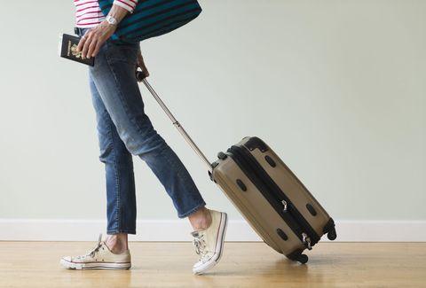 Hand luggage on wheels