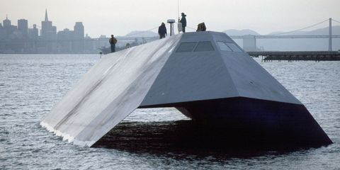 Water, Stealth ship, Vehicle, Sea, Watercraft, Ship, River, Boat, City,