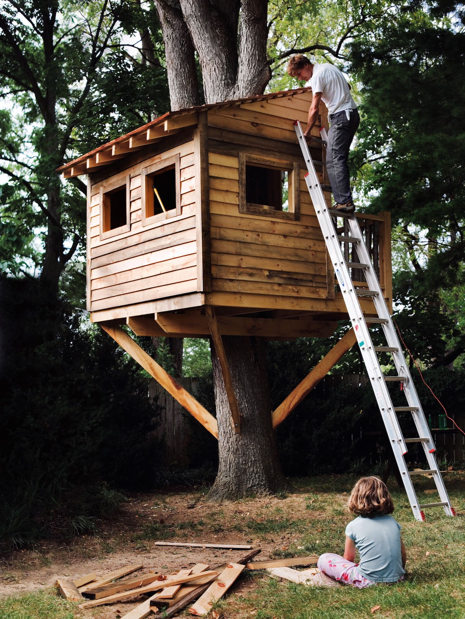 Design Single Tree Treehouse how to build a treehouse for your backyard diy tree house plans